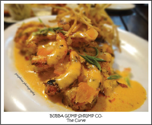 Bubba gump shrimp co the curve for Bourbon street fish
