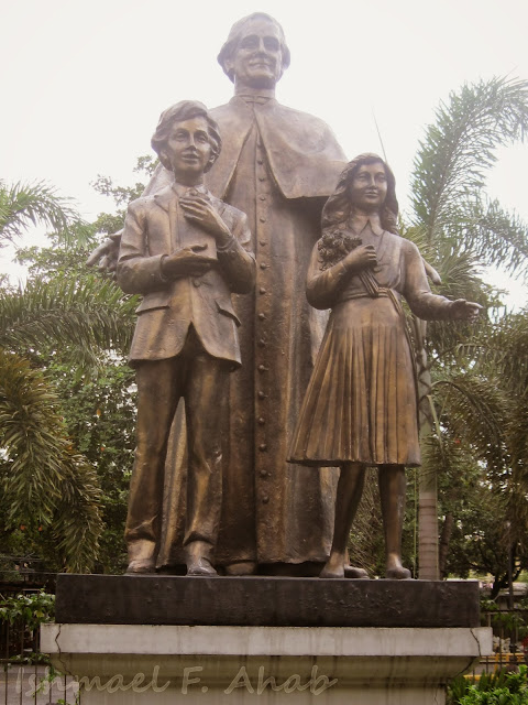 Statues of Don Bosco, Dominic Savio and Laura Vicuña at Don Bosco Church