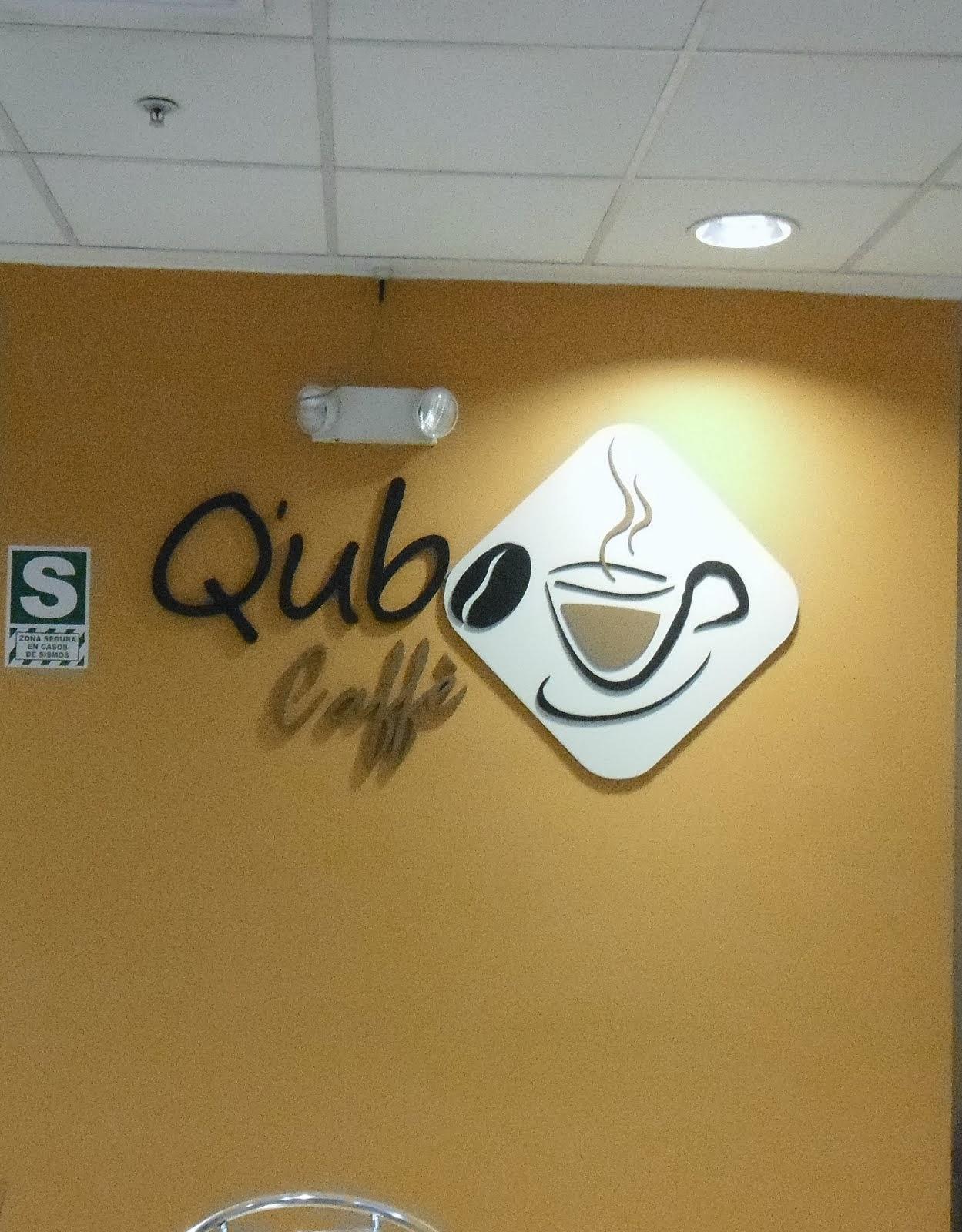 qubo caffe - letras en mdf en 3d