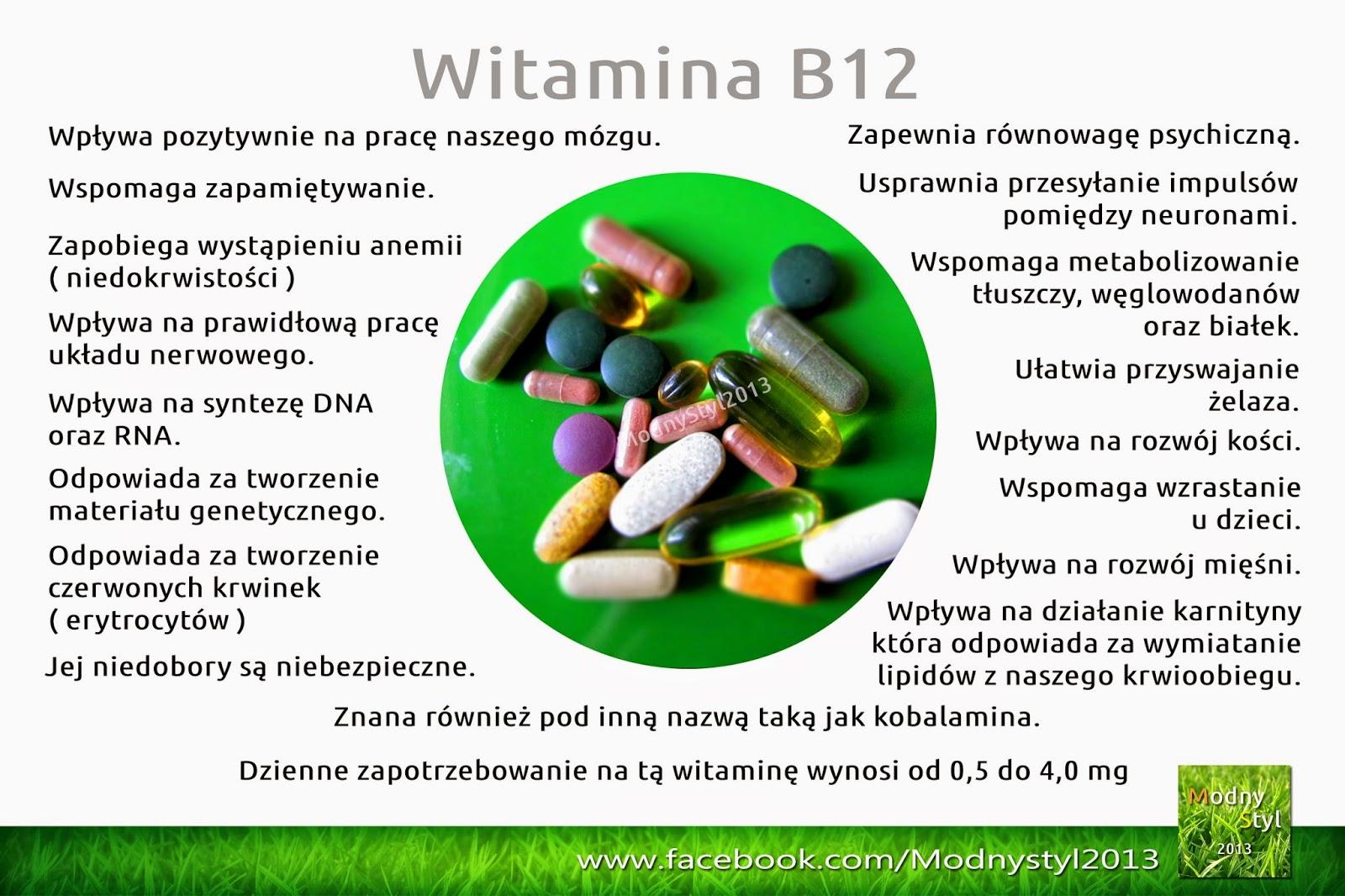 Witamina B12 zwana kobalaminą
