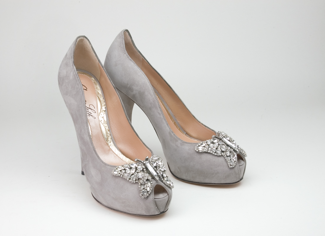 Wrapped Couture Suede Wedding Shoes