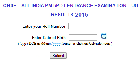 AIPMT Result 2015 By Name By Roll No Merit List