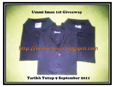 Ummi Iman 1st Giveaway