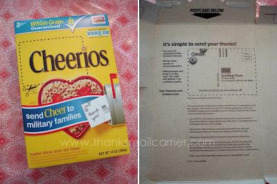 Cheerios sendCheer campaign