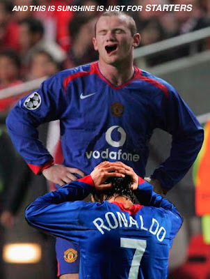 Funny football picture Ronaldo and Rooney