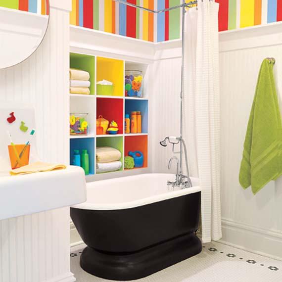 decoração de banheiro infantil