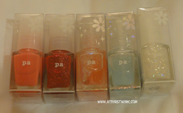 pa nail polishes in plastic packaging
