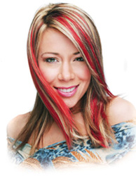 Blonde Red Highlights