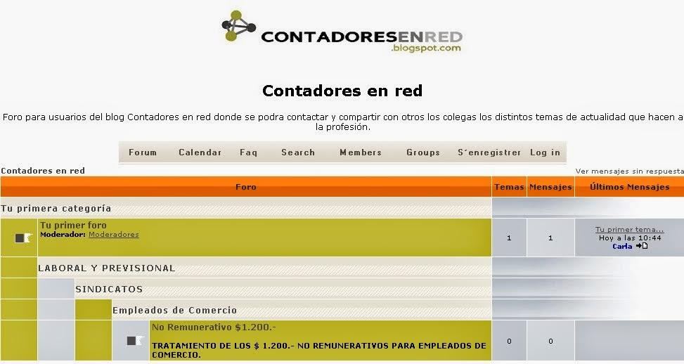 Foro de Contadores en red