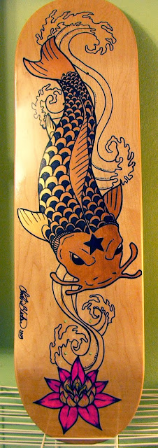 Koi Carpa Skateboard Design