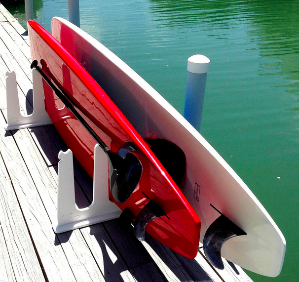 paddleboard rack for dock and pier