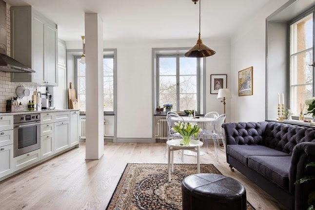 Decoraci n f cil recursos para crear amplitud visual en for Como decorar apartamento de 42 metros cuadrados