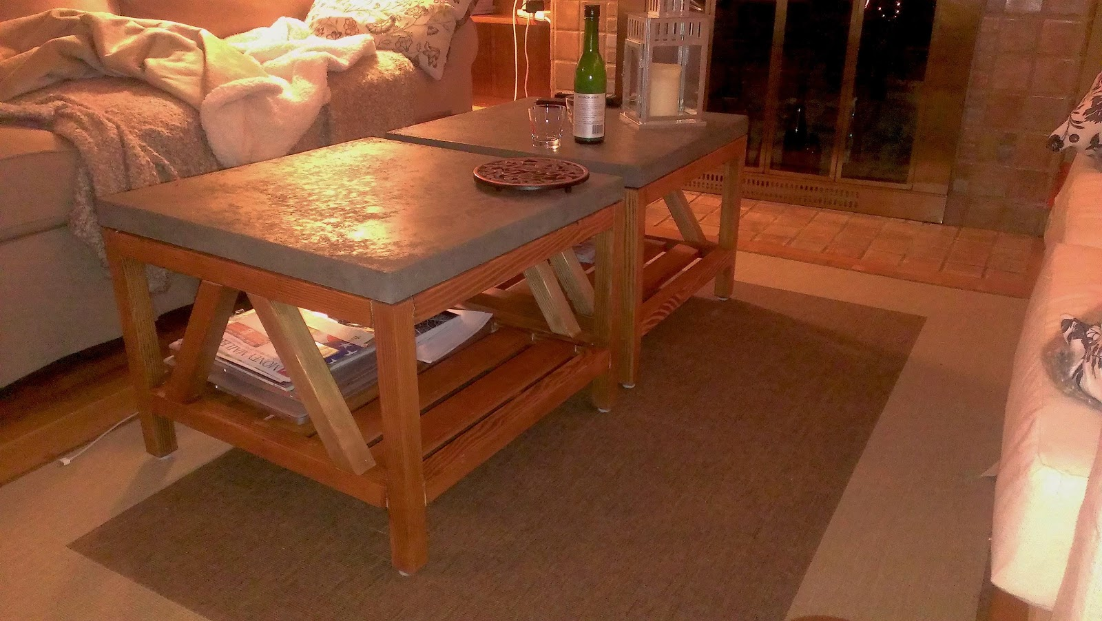 DIY Crate U0026 Barrel Bluestone Coffee Tables