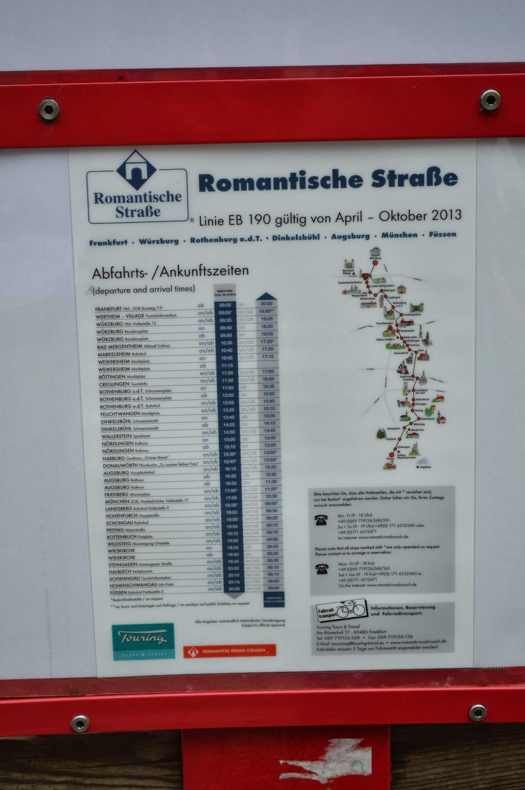 Romantic ROAD Würzburg - Rothenburg - Dinkelsbühl - Augsburg - Münich , neuschwanstein