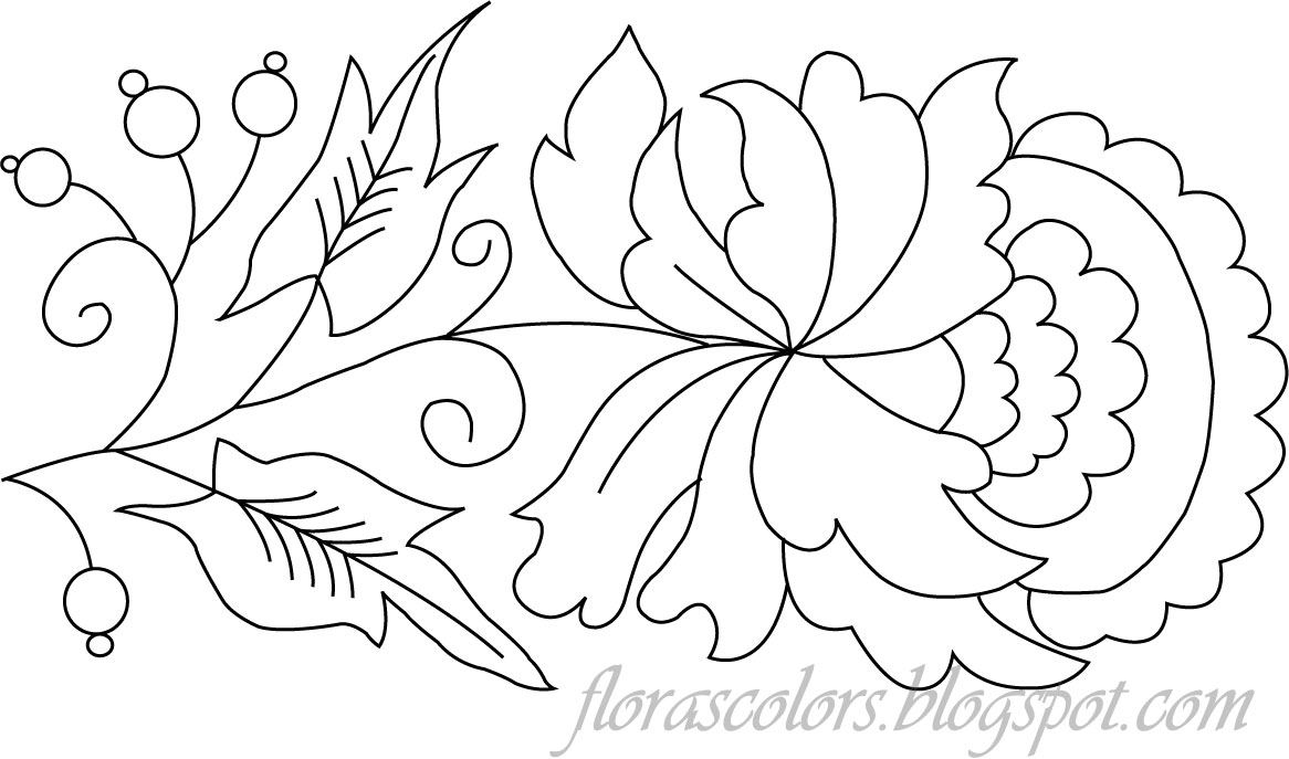 Flora s colors free hand embroidery pattern