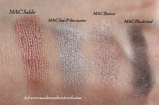 MAC Amorous Adventure Quad swatches / Novel Romance collection