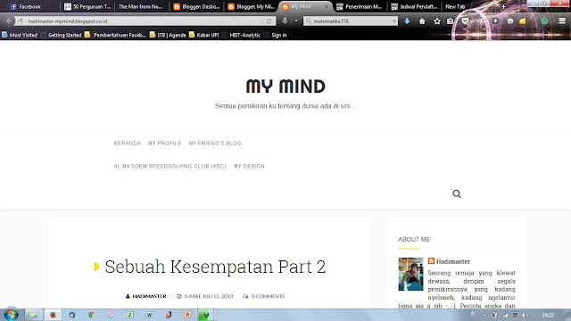 My Mind Baru