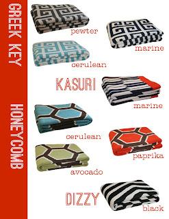 happy habitat modern geometric blankets