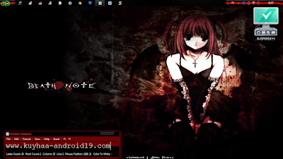 DEATH NOTE TEMA WINDOWS 7