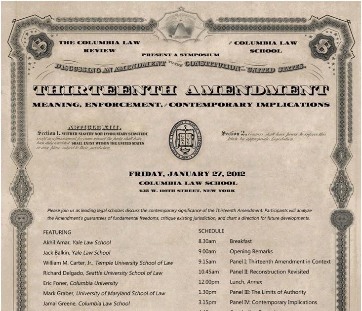 Legal History: Legal History Blog: The Thirteenth Amendment At The