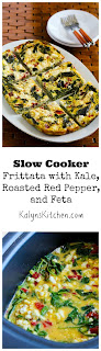 Slow Cooker Frittata with Kale, Roasted Red Pepper, and Feta [from KalynsKitchen.com]