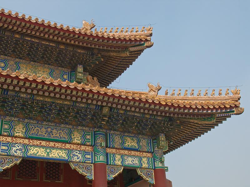 Détails architecturaux à la Cité interdite de Pékin