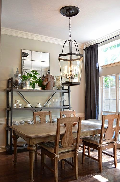 Lantern chandelier for dining