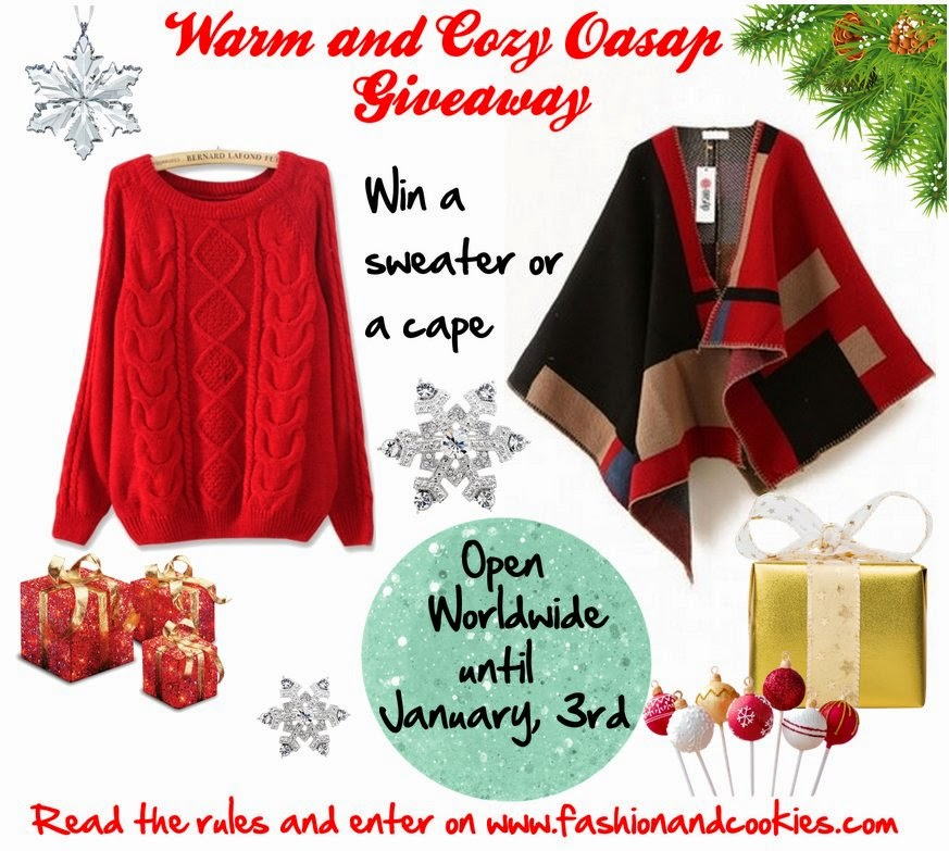 Warm and Cozy Oasap Giveaway, Fashion and Cookies, fashion blogger