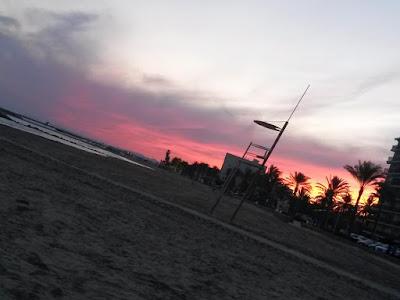 Sunset in Cunit