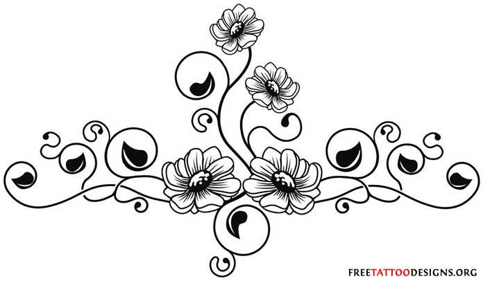 around tribal thigh tattoo Tattoo flower Lotus   Like outline tattoo