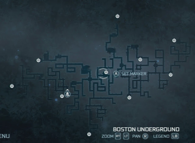 GameGuideFAQ AC3 Boston  New York Underground Tunnel Map