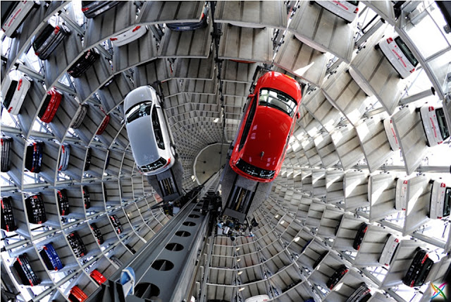 World largest car parking in Germany buildings infrastructure strange architecture Garage Images