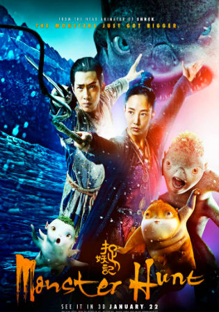 Poster of Monster Hunt 2015 Full Movie  720p Dual Audio