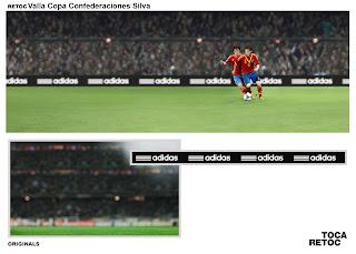 Retoque Fotográfico Adidas Silva Copa Confederaciones Valla