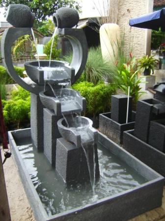 air mancur taman & pot: roda + gentong