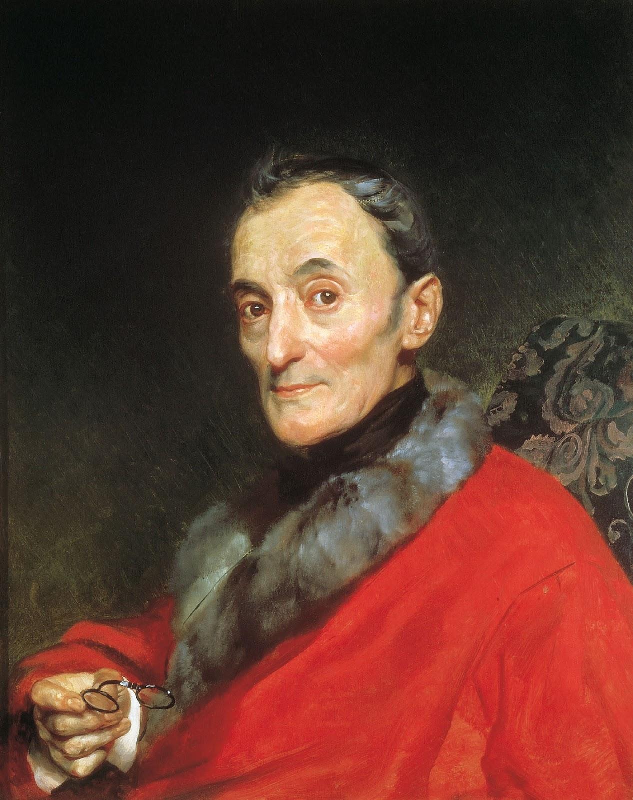 Karl   riullov  Portrait  of  the  Archaeologist  Makedandzhelo  Lanchi C