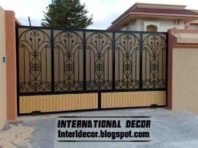 interior decor idea modern sliding iron gate designs uk