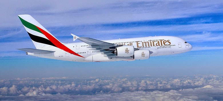Picture of Emirates A380 Aeroplane