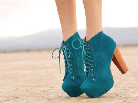 Como usar sapatos com saltos quadrados