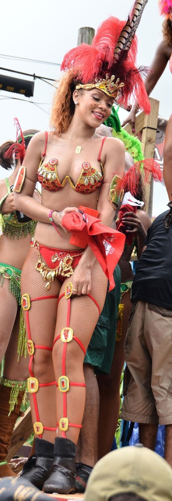 So what Rihanna had on a revealing outfit for The Kadooment Day Parade. Thats part of the whole spirit and culture. She's in her home country with her peoples being who she is and enjoying herself…
