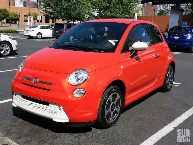 Fiat 500e at Drive Revolution in Portland, Oregon