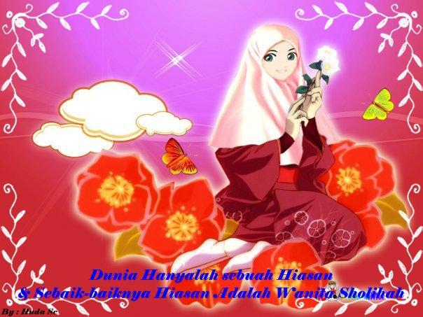Gambar Kartun Cewek Sholihah Berjilbab Wanita Muslimah
