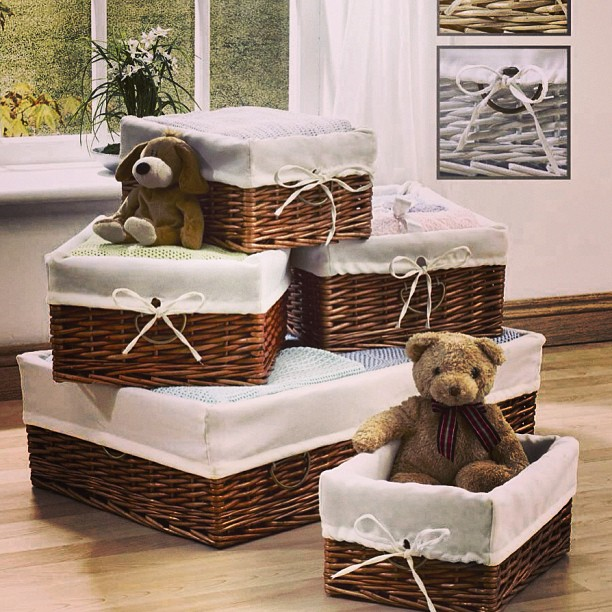 decorative baskets; wicker baskets; storage