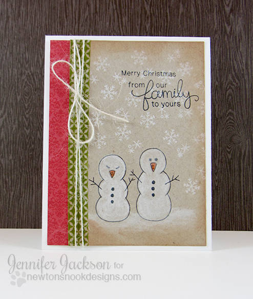 Snowman card by Jennifer Jackson for Newton's Nook Designs - Flaky Family Stamp Set