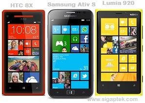 adu ponsel windows phone 8 tercanggih saat ini, bagusan lumia 920 atau samsung ativ s?, htc 8x vs nokia lumia 920