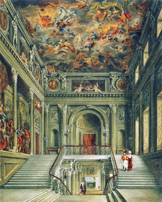 Buckingham House The Staircase 1818