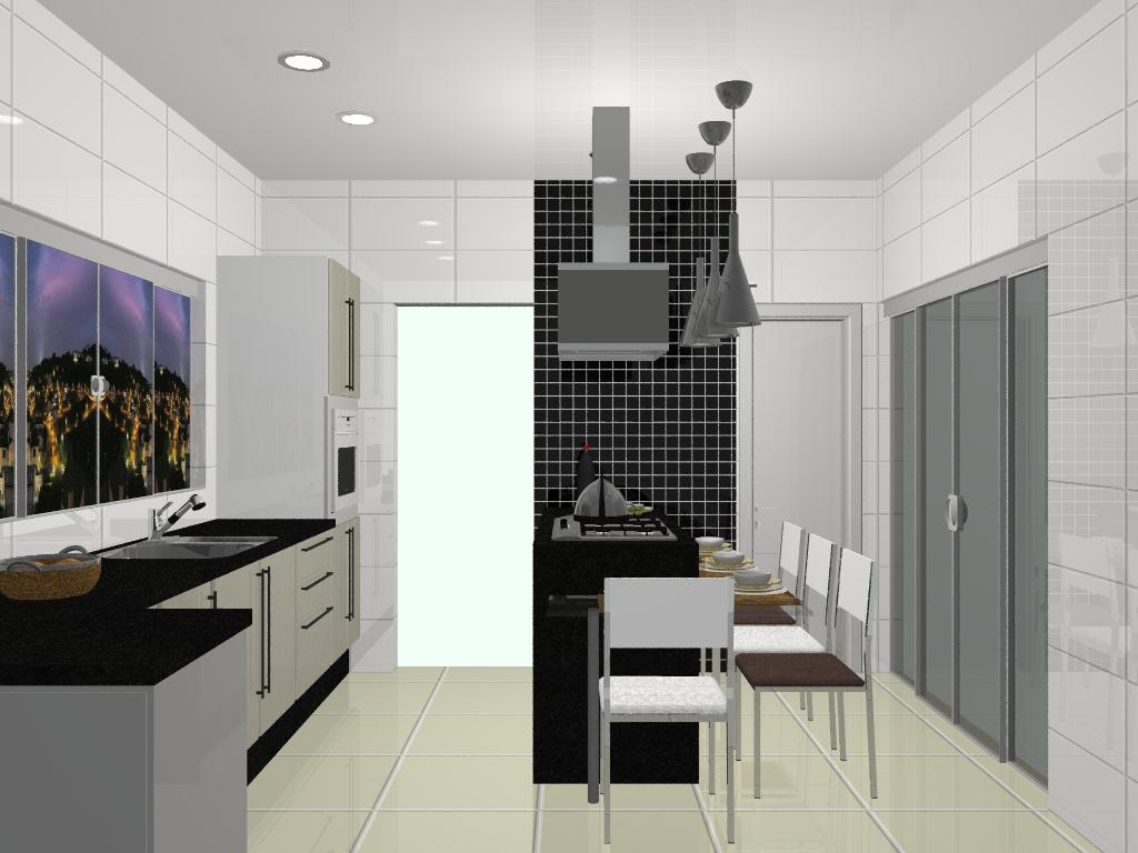 projeto para a cozinha de uma cliente; revestimento branco faixa de  #5D4A33 1024 768