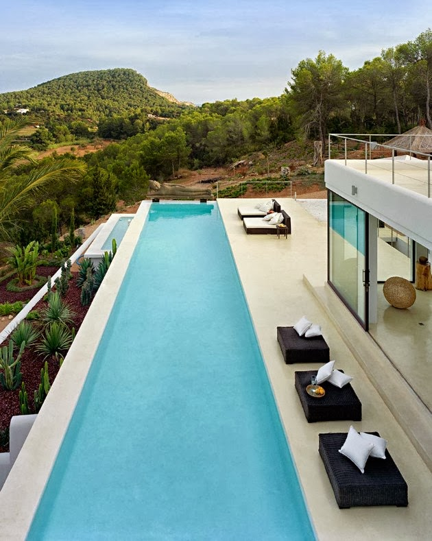 Long swimming pool in Ibiza dream home by Jaime Serra