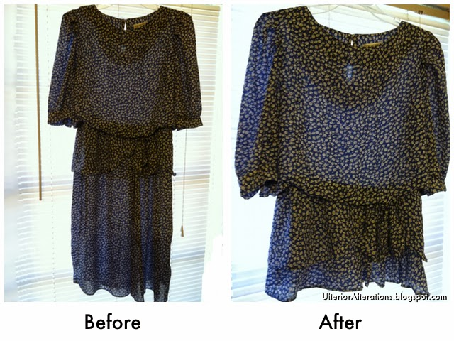 refashioned dress to blouse