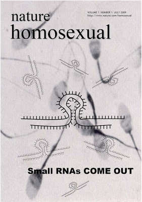 little gay RNAs - microRNAs - Nature homosexual - fun science - comedy science - comic science